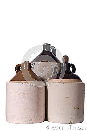 Three Vintage Ceramic Jugs