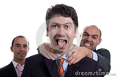 Three violent business men