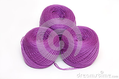 Three violet skein