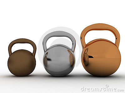 Three weights are made ​​of bronze №1