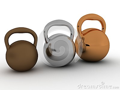 Three weights are made of bronze №2