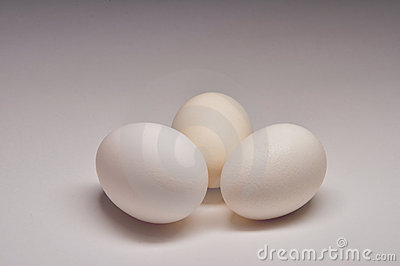 Three White Eggs
