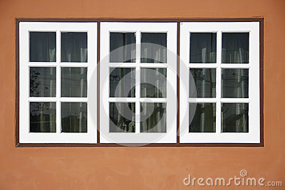 Three white panel front of house