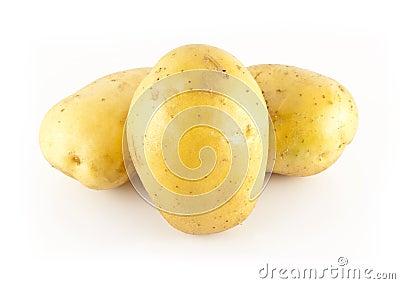 Three white potatoes