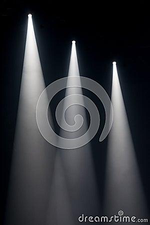 Free Three White Spot Lights On Stage Stock Photo - 87292040