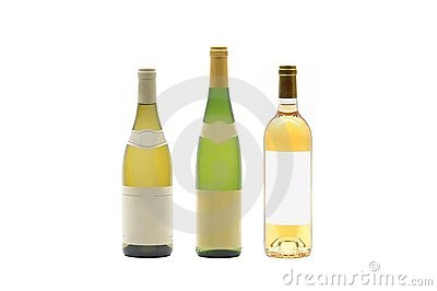 Three wine bottles