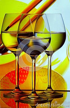 Free Three Wine Glasses Royalty Free Stock Photography - 16165267