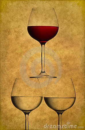 Free Three Wine Glasses Royalty Free Stock Images - 16619839