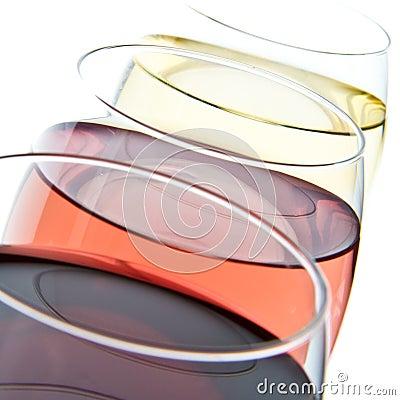 Free Three Wine Glasses Royalty Free Stock Photography - 19708107