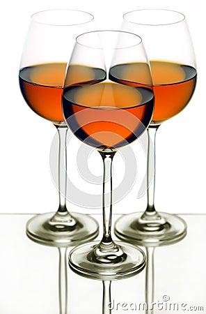 Free Three Wine Glasses Pattern Royalty Free Stock Photography - 16593937
