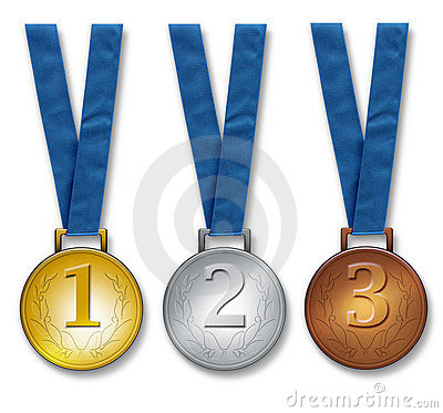 Free Three Winners Medals Royalty Free Stock Images - 3069309