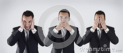 Three wise businessman