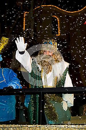 Three Wise Men parade Editorial Stock Image