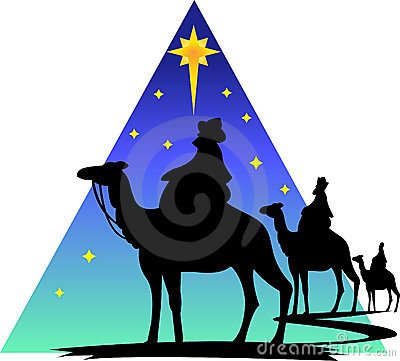 Three Wisemen Silhouette/eps