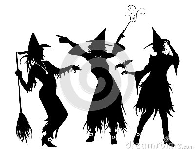 Three Witch Silhouettes