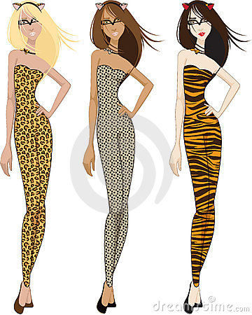 Three Women in Catsuits