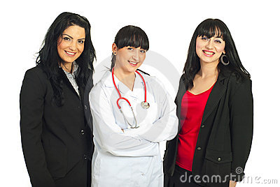 Three women with different careers