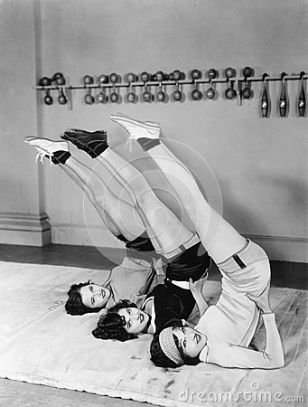 Free Three Women Exercising Royalty Free Stock Photo - 52007235