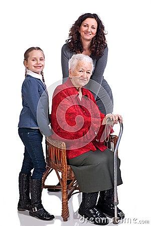 Three women generations