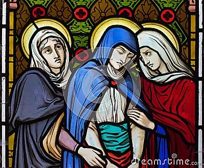 Three women under the cross