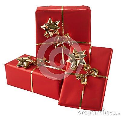Free Three Wrapped Presents Royalty Free Stock Photos - 7115308