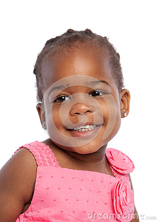 Three Year Old African American Girl Heahshot