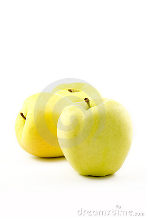 Free Three Yellow Apples Royalty Free Stock Photography - 8371197