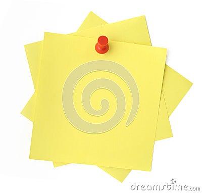 Free Three Yellow Sticky Notes Stock Photo - 2834250