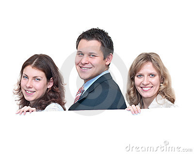 Three young people a team