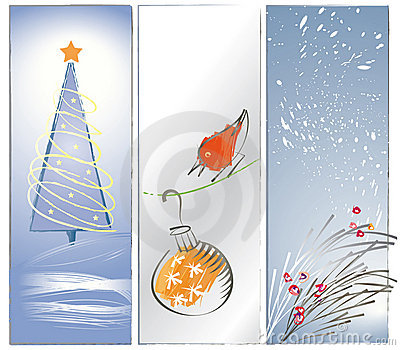 Three Zen Christmas Backgrounds or Banners