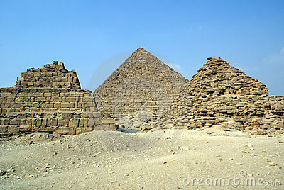 Threee piramids