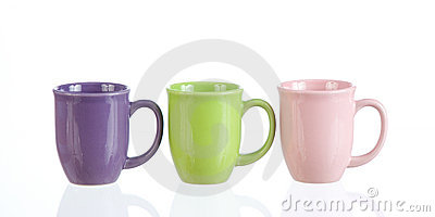 Threesome of coffeecups