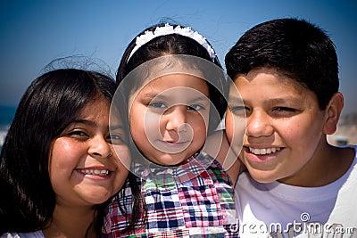 Threesome Hispanic Family