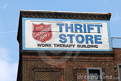 Thrift store sign. Editorial Photo