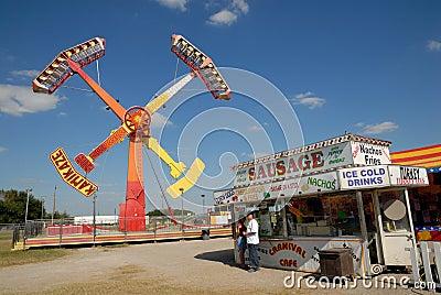 Thrill ride in Amusement park Editorial Photo