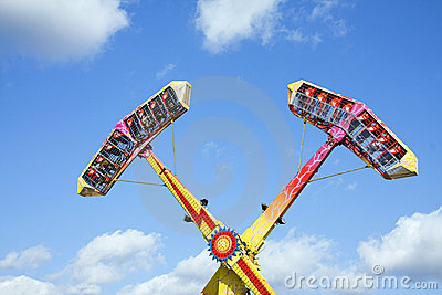 Thrill ride at amusement park