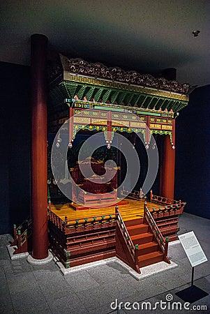 Throne As Museum Exhibit Free Public Domain Cc0 Image