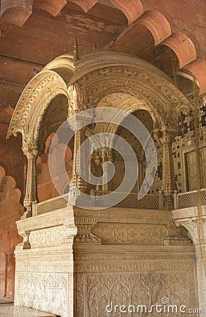 Throne Mughal Emperor Red Fort, Delhi, India