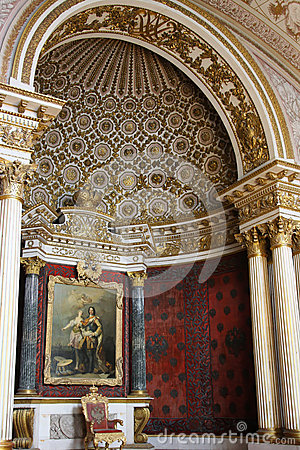 Throne room in the Hermitage Palace Editorial Photo