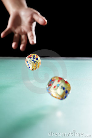 Free Throwing Dices Royalty Free Stock Photography - 18644567