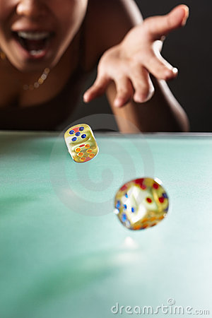 Free Throwing Dices Royalty Free Stock Photos - 18644638