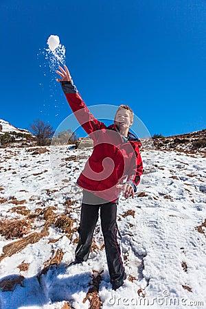 Throwing Snowballs Teenager