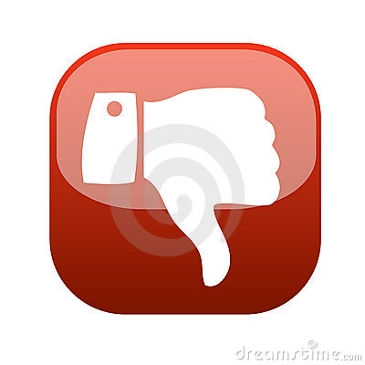 Thumb down gesture icon vector