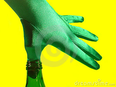 Thumb in a Green Bottle