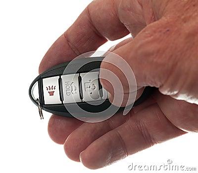 Thumb on keyless wireless door opener