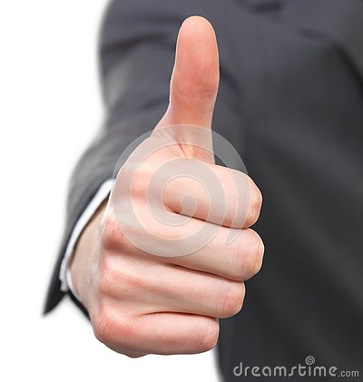 Thumb s up by a businessman