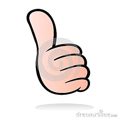 Thumb up cartoon style