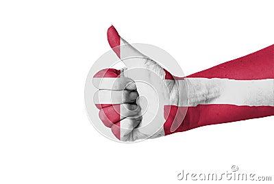 Thumb up for Denmark