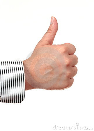 Thumb up gesture OK