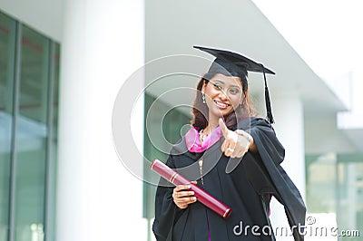 Thumb up graduate